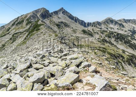 Amazing Landscape with The Long lake and Banderishki chukar peak, Pirin Mountain, Bulgaria