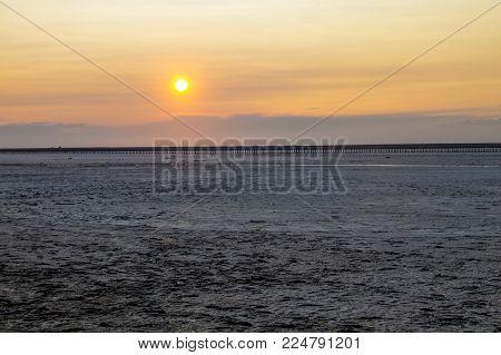 Pink Salty Siwash Lake At Sunset