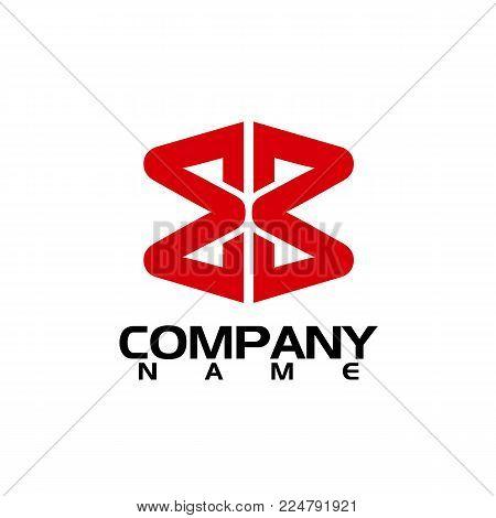 bb letter logo design vector illustration template, B letter logo vector, letter B and B logo vector, creative Letter BB letter logo