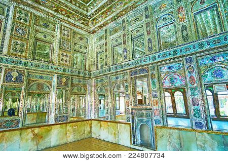 Shiraz, Iran - October 12, 2017: The Medieval Mansions Of Shiraz Boast Preserved Interiors, Such As