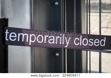 temporarily closed banner - temporarily closed sign