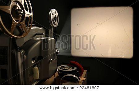 Projetor de cinema com Frame em branco