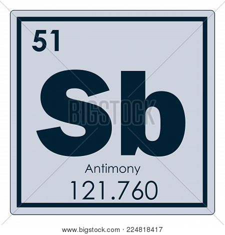 Antimony Chemical Element Periodic Table Science Symbol