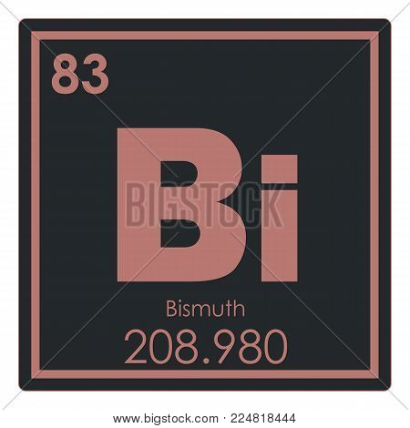 Bismuth chemical element periodic table science symbol