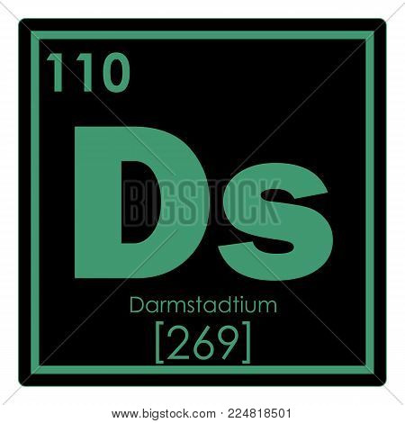 Darmstadtium chemical element periodic table science symbol