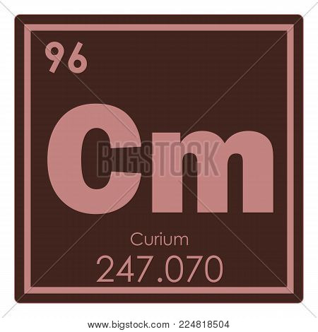 Curium chemical element periodic table science symbol