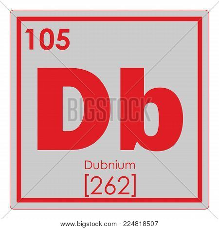 Dubnium chemical element periodic table science symbol