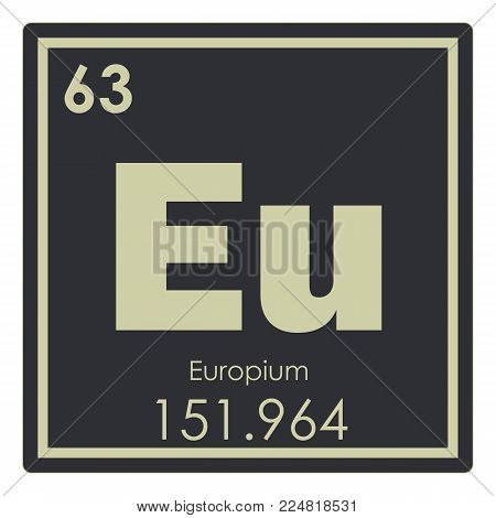 Europium chemical element periodic table science symbol
