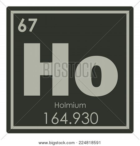 Holmium chemical element periodic table science symbol