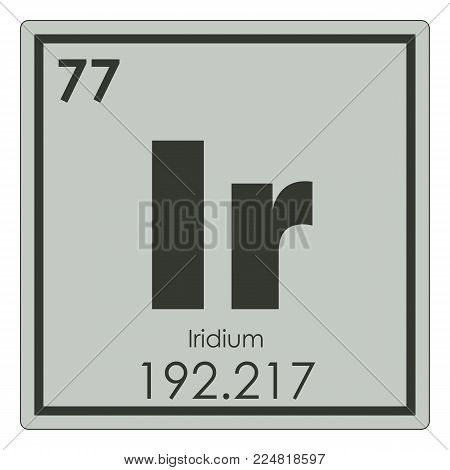 Iridium chemical element periodic table science symbol