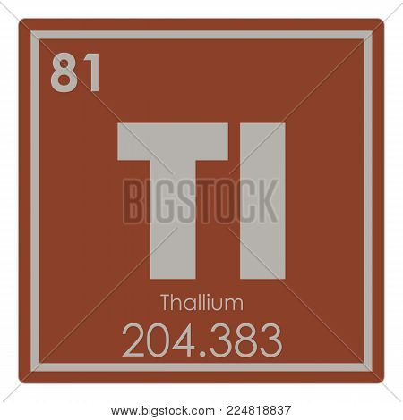 Thallium chemical element periodic table science symbol