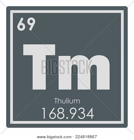Thulium chemical element periodic table science symbol