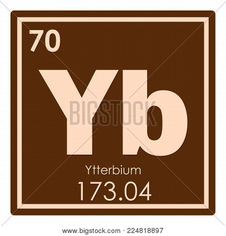 Ytterbium chemical element periodic table science symbol