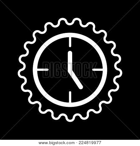 Clock icon in trendy flat style isolated on background. Contour design. Clock icon page symbol for your web site design Clock icon logo, app, UI. Clock icon Vector illustration, EPS10
