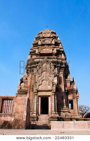 temple made of stone situated on a mountain