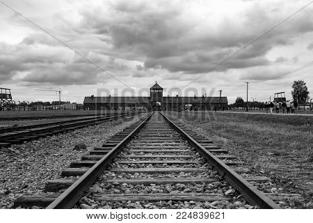 Concentration camp in Auschwitz. The only Nazi concentration camp, which is on the UNESCO World Heritage list