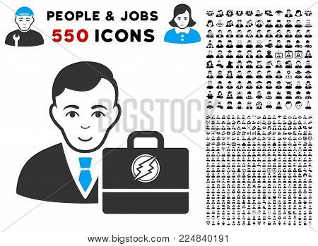 Happiness Electroneum Accounter vector pictograph with 550 bonus sad and glad user pictographs. Human face has joy sentiment. Bonus style is flat black iconic symbols. poster