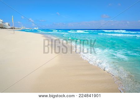 Playa Marlin in Cancun Beach at Riviera Maya of Mexico