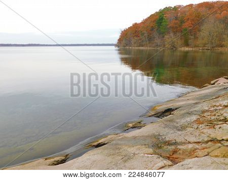 St. Lawrence River In Autumn From Wellesley Island
