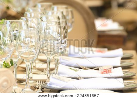Desserts Table On Party Event Or Wedding Celebration