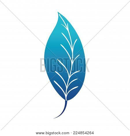 Blue Silhouette Natural Leaf Plant Botany Design