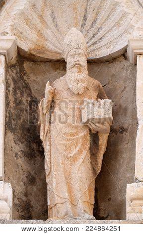 DUBROVNIK, CROATIA - NOVEMBER 07: St. Blaise patron of Dubrovnik, Croatia on November 07, 2016.