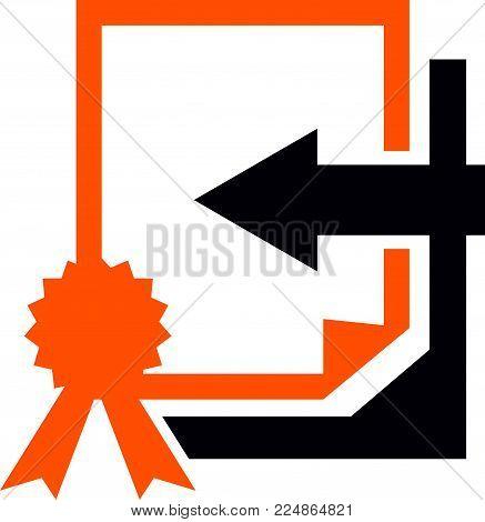 Translation Document Validation Logo Design Template Vector