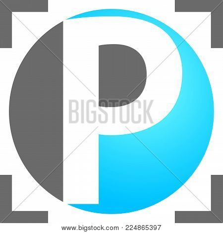 Letter P Precision Logo Design Template Vector