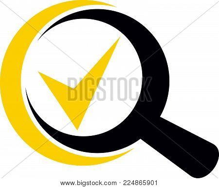 Searching Verify Logo Design Template Vector Isolated