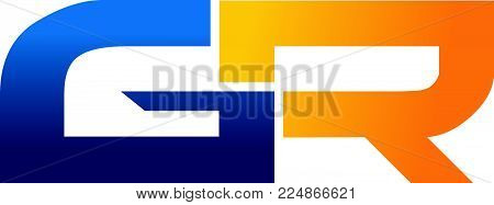 Letter G R Modern Logo Design Template Vector