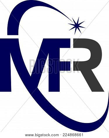 Letter M F R Logo Design Template Vector Isolated