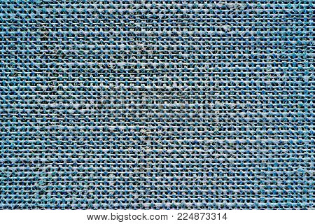 illustration of abstract speckled texture of fabric or textile material of blue color indigo for a background or for desktop wallpaper