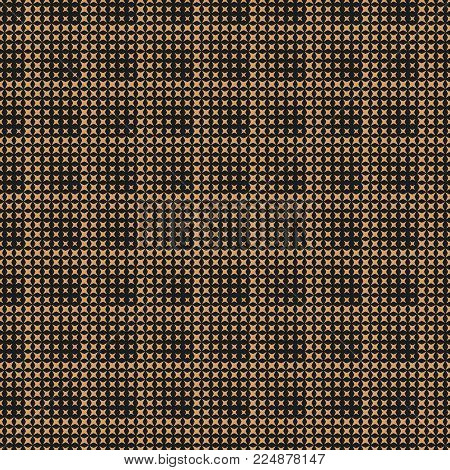 Vector seamless pattern. Abstract halftone background. Modern stylish texture. Repeating stars of the different size. Contemporary design. Gradation from smaller to bigger