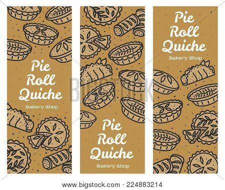 Meat Pie, Roll, Quiche Illustration