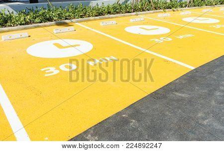 Empty Space Car Park Outdoor Parking Lot
