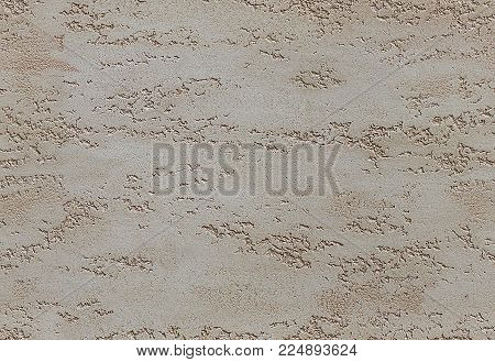 Sand color beige seamless stone texture venetian plaster style background pattern. Traditional venetian plaster stone texture grain drawing. Stone rock beige grunge texture interior decoration element. Seam less Beige stone texture