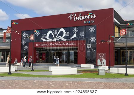 Lanzarote, Spain - January 20th 2018: The Exterior Of The Rubicon Shopping Centre Located At Rubicon