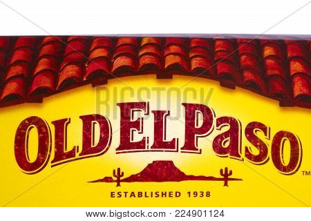 London, Uk - December 18th 2017: A Close-up Of The Old El Paso Brand Logo, On 18th December 2017.  T