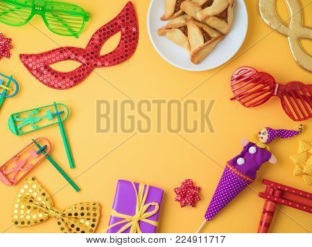 Purim Holiday Background