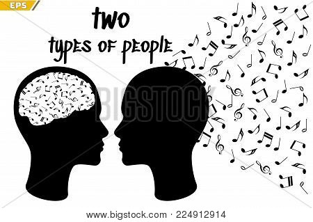 Different types of people endowed with their gift of perception of music