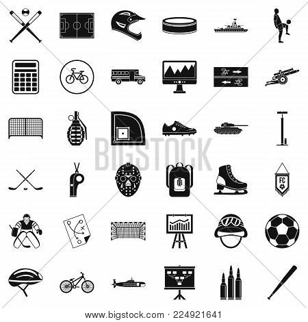 Wholesomeness icons set. Simple set of 36 wholesomeness vector icons for web isolated on white background poster