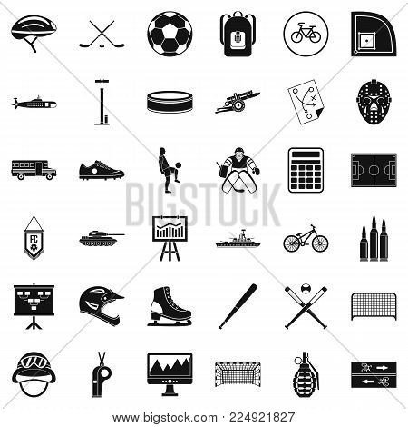Totality icons set. Simple set of 36 totality vector icons for web isolated on white background
