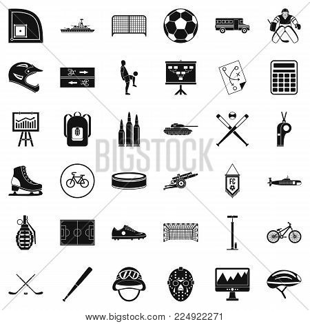 Excellent health icons set. Simple set of 36 excellent health vector icons for web isolated on white background