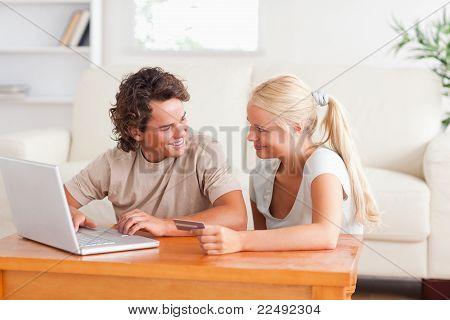 Happy Couple Doing Internet Shopping