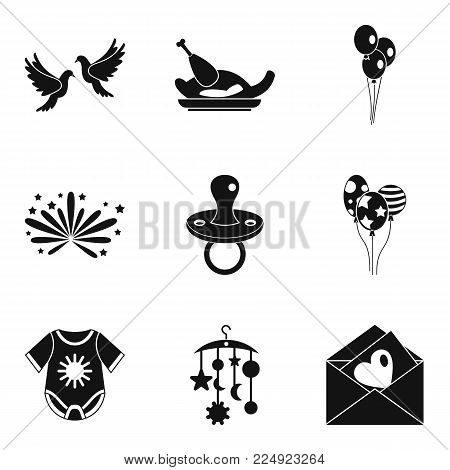 Fondness icons set. Simple set of 9 fondness vector icons for web isolated on white background