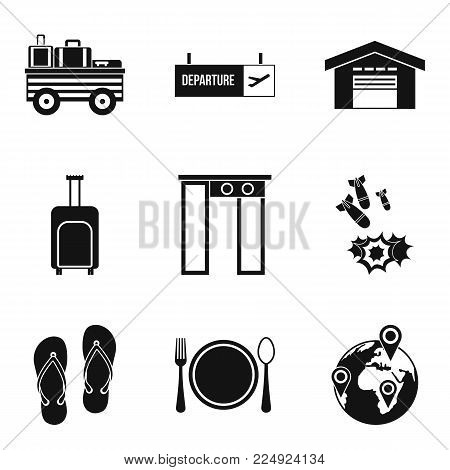 Load capacity icons set. Simple set of 9 load capacity vector icons for web isolated on white background