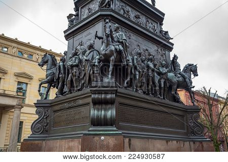 Equestrian Statue Frederick The Great In Berlin Germany