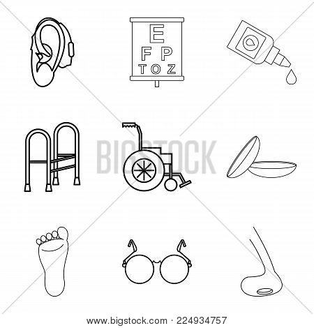 Procedure icons set. Isometric set of 9 procedure vector icons for web isolated on white background
