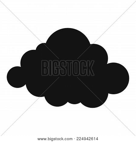 Deformed cloud icon. Simple illustration of deformed cloud vector icon for web