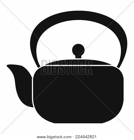 Chinese teapot icon. Simple illustration of chinese teapot vector icon for web